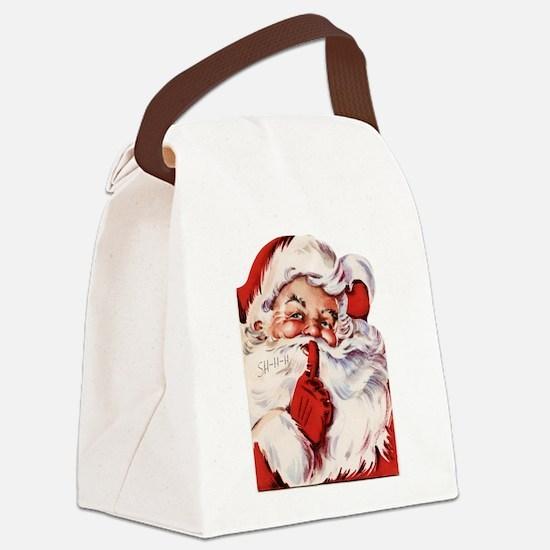 Vintage Santa Canvas Lunch Bag