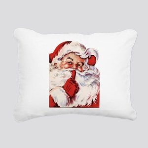 Vintage Santa Rectangular Canvas Pillow