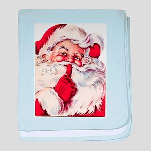 Vintage Santa baby blanket