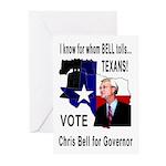 Chris Bell, TX GOV Greeting Cards (Pk of 10)
