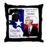Chris Bell, TX GOV Throw Pillow