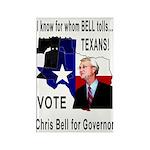Chris Bell, TX GOV Rectangle Magnet (100 pack)