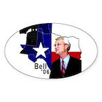 Chris Bell, TX GOV Oval Sticker