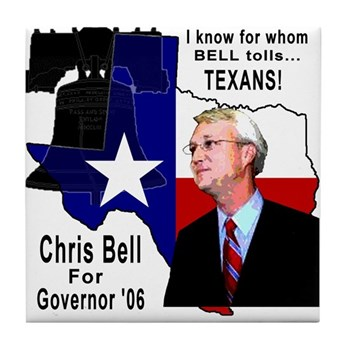 Chris Bell, TX GOV Tile Coaster