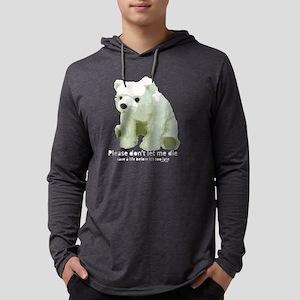dont let die polar bear Mens Hooded Shirt