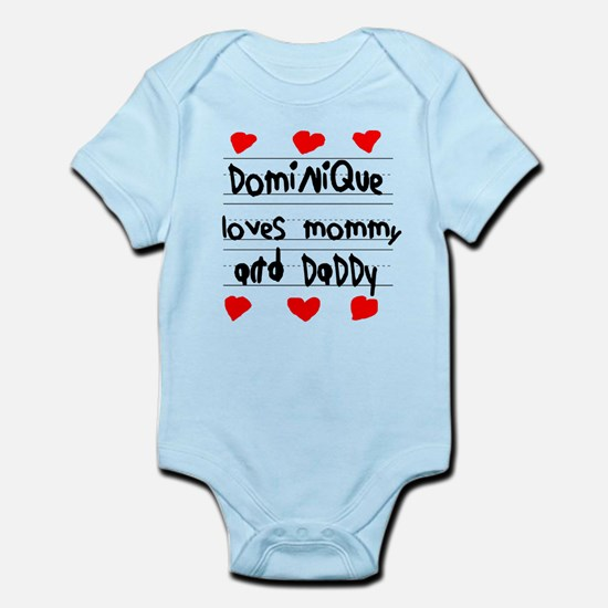 Dominique Loves Mommy and Daddy Infant Bodysuit