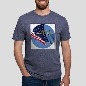 button_type Mens Tri-blend T-Shirt