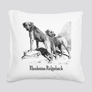 Rhodesian Ridgeback Vintage Square Canvas Pillow