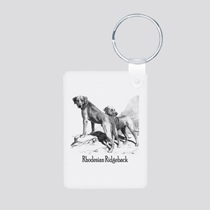 Rhodesian Ridgeback Vintage Aluminum Photo Keychai