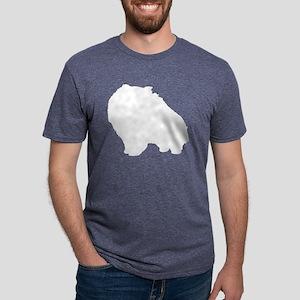 pom-white Mens Tri-blend T-Shirt