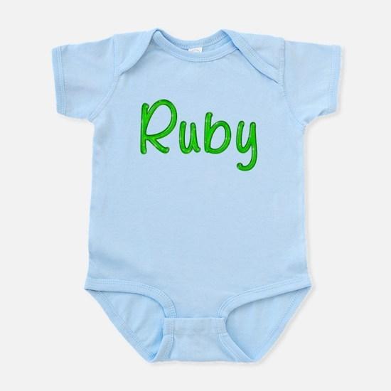 Ruby Glitter Gel Infant Bodysuit