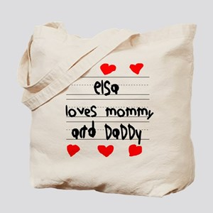Elsa Loves Mommy and Daddy Tote Bag