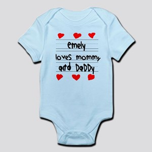 Emely Loves Mommy and Daddy Infant Bodysuit
