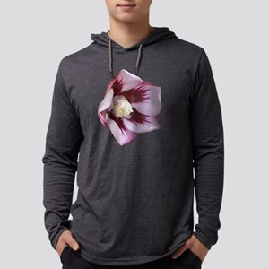 hibiscus pink1 d Mens Hooded Shirt