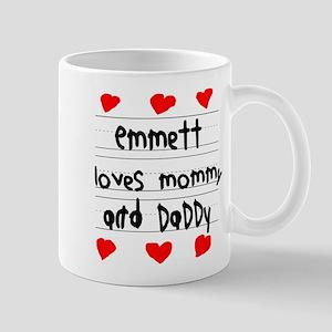 Emmett Loves Mommy and Daddy Mug