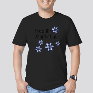Nipply Out Men's Fitted T-Shirt (dark)