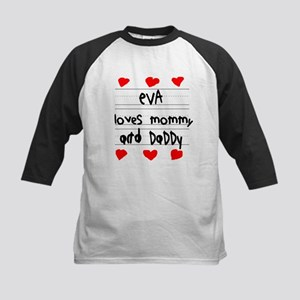 Eva Loves Mommy and Daddy Kids Baseball Jersey
