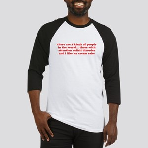 ADD ADHD Funny Quote Humor - Red Baseball Jersey