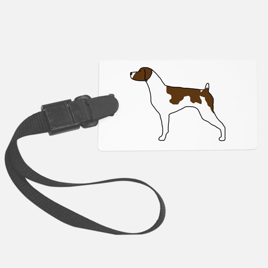 Liver Brittany Large Luggage Tag