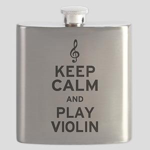 Keep Calm Violin Flask