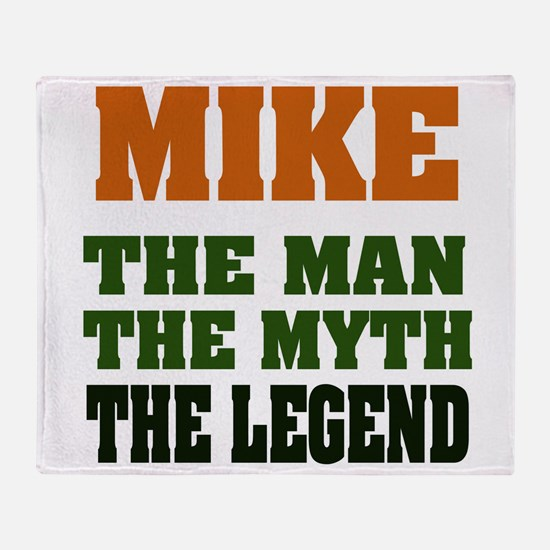 Mike The Legend Throw Blanket