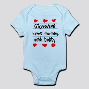 Giovanni Loves Mommy and Daddy Infant Bodysuit