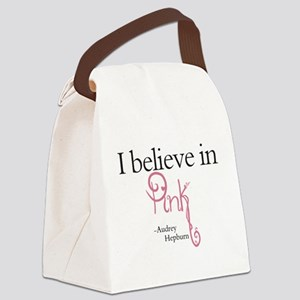 I believe in Pink Canvas Lunch Bag