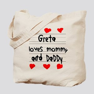 Greta Loves Mommy and Daddy Tote Bag