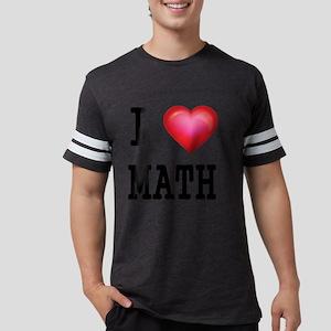 I LOVE MATH Mens Football Shirt