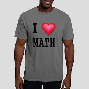 I LOVE MATH Mens Comfort Colors Shirt