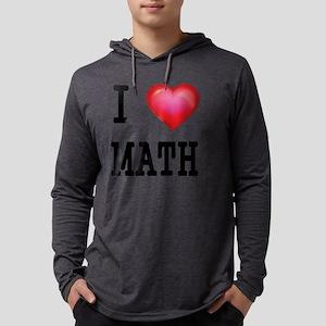 I LOVE MATH Mens Hooded Shirt