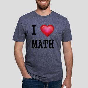 I LOVE MATH Mens Tri-blend T-Shirt
