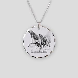 Rhodesian Ridgeback Vintage Necklace Circle Charm