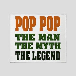 Pop Pop the Legend Throw Blanket