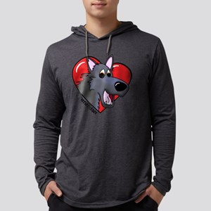 3-heartgroenendael Mens Hooded Shirt