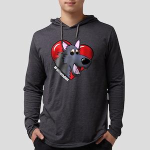 2-heartgroenendael_blk Mens Hooded Shirt