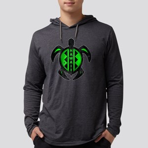 Hawaii Turtle Pattern Mens Hooded Shirt
