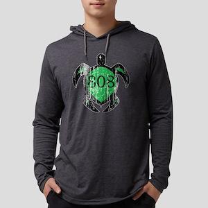 808 Hawaiian Turtle  Mens Hooded Shirt