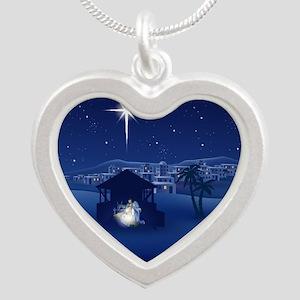 NATIVITY Silver Heart Necklace