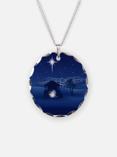NATIVITY Necklace Circle Charm