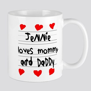 Jennie Loves Mommy and Daddy Mug