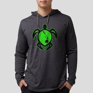 green hi island turtle Mens Hooded Shirt