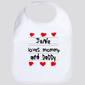Junie Loves Mommy and Daddy Bib