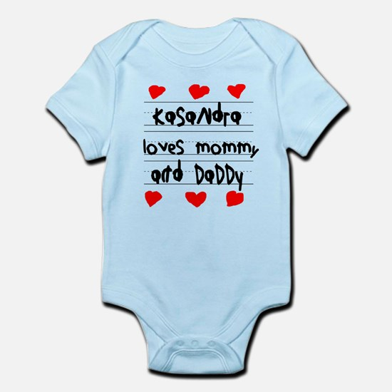 Kasandra Loves Mommy and Daddy Infant Bodysuit