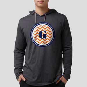 Orange Chevron G Monogram  Mens Hooded Shirt