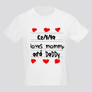 Kenna Loves Mommy and Daddy Kids Light T-Shirt