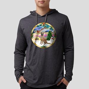W-XmasMagic-BelgianMalinois1r.pn Mens Hooded Shirt