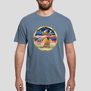W-XmasStar-BelgianMalino Mens Comfort Colors Shirt