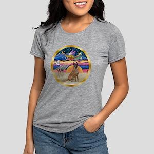 W-XmasStar-BelgianMalinoi Womens Tri-blend T-Shirt