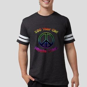 100 hippie - chick Mens Football Shirt